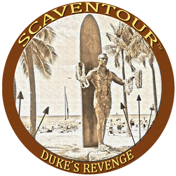 Duke's Revenge Challenge Coin for Escape Room Waikiki Victory