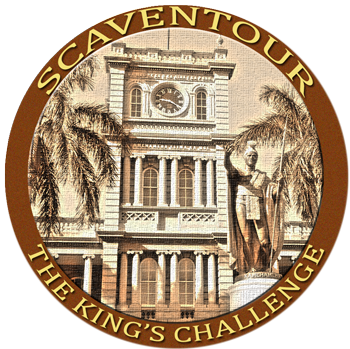 King's Challenge Coin for Honolulu Escape Game Victory